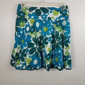 Delia's Blue & Green Floral Side Zip Size 5/6